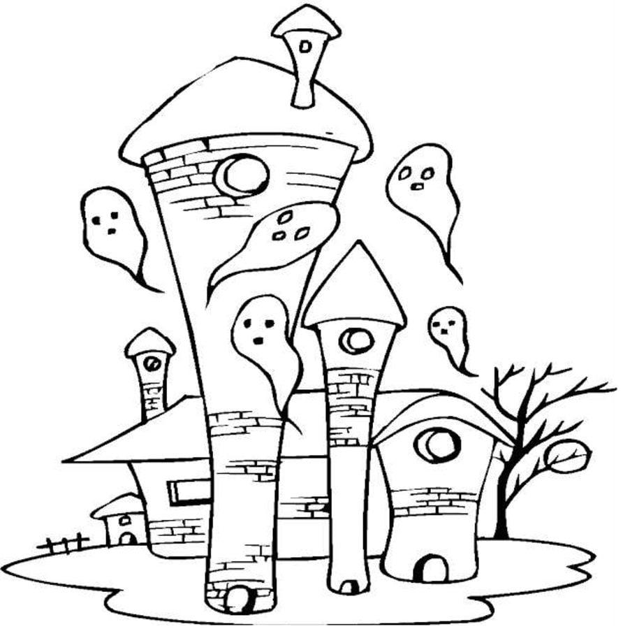 Ausmalbilder Halloween Geist : Ausmalbilder Geist Zum Ausdrucken Kostenlos F R Kinder Und Erwachsene