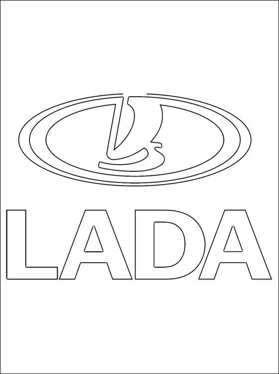 Dibujos para colorear: Lada - logotipo imprimible, gratis, para los ...