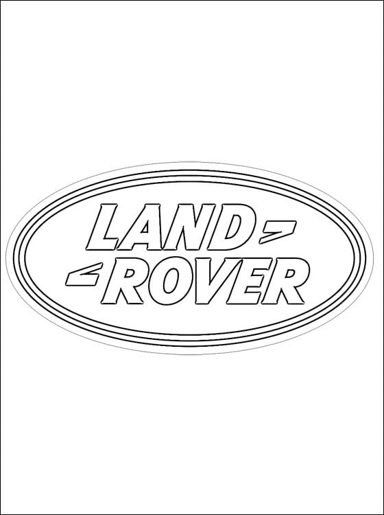 Coloring pages: Land Rover - logo, printable for kids & adults, free