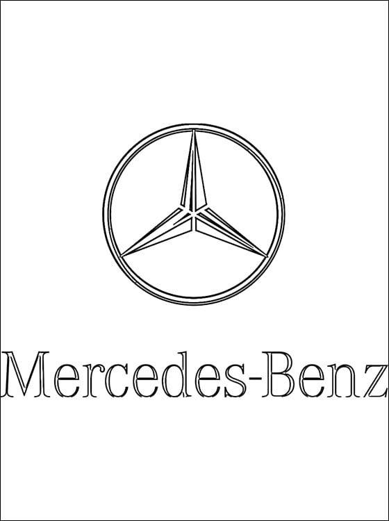 ausmalbilder ausmalbilder mercedes benz  logo zum