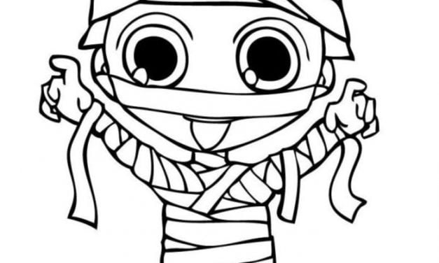 Coloring pages: Mummy