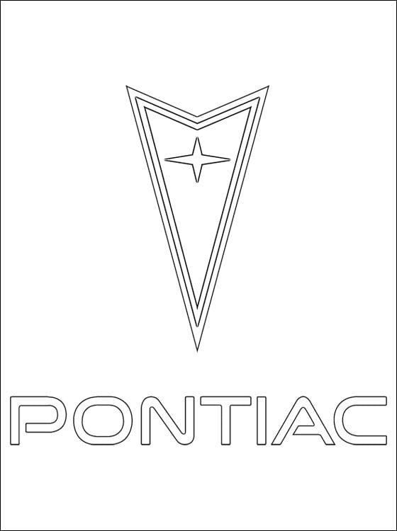 Ausmalbilder: Pontiac - logo Ausmalbilder Logos Transport