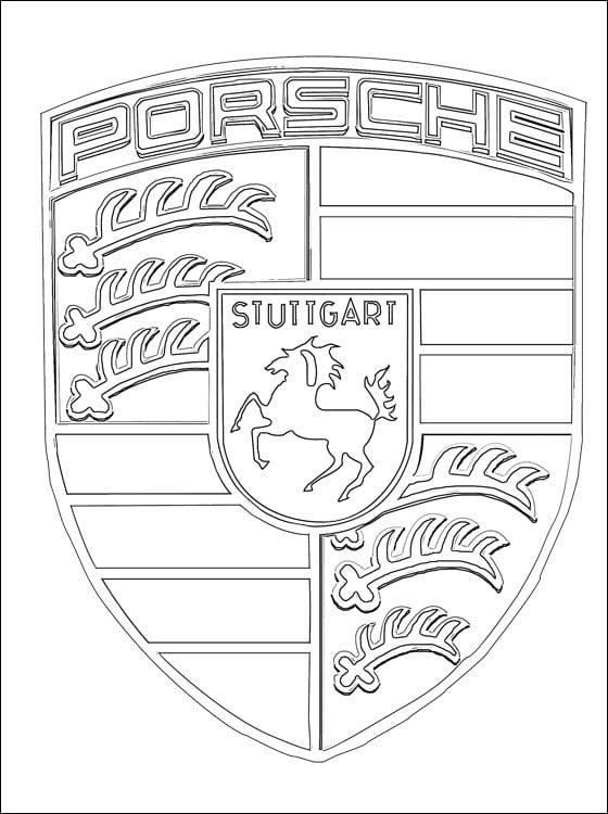 Kolorowanki: Porsche - logo Kolorowanki Logo firm Transport