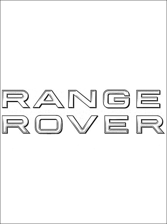 Kolorowanki: Range Rover - logo Kolorowanki Logo firm Transport