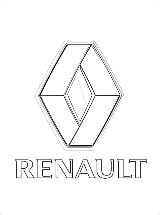 Coloring Pages Coloring Pages Renault Logo Printable For Kids