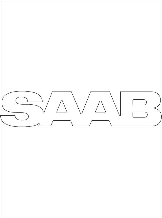 Kolorowanki: Saab - logo Kolorowanki Logo firm Transport