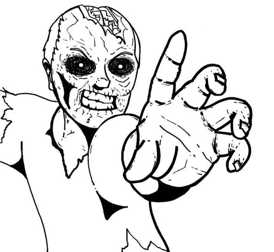 Ausmalbilder: Zombie zum ausdrucken, kostenlos, für Kinder und ...