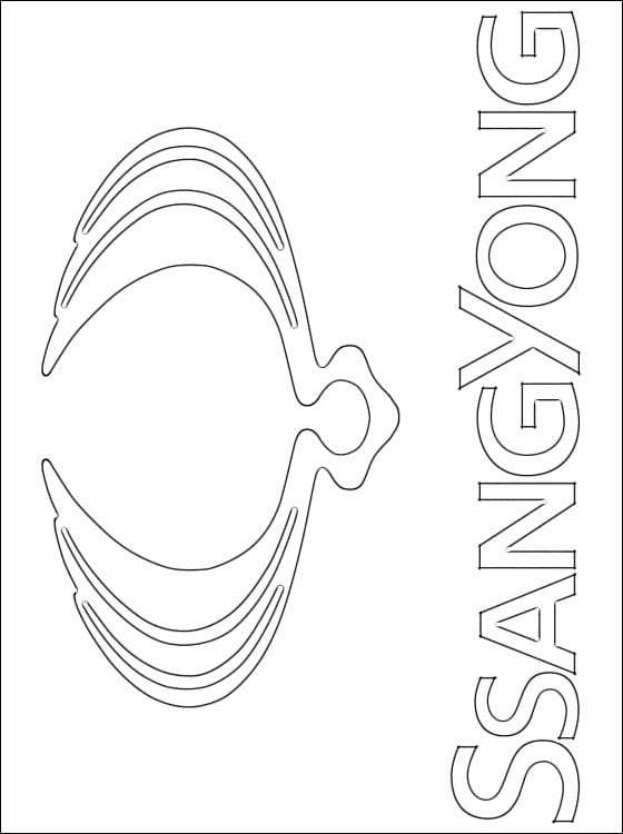 coloring pages  ssangyong