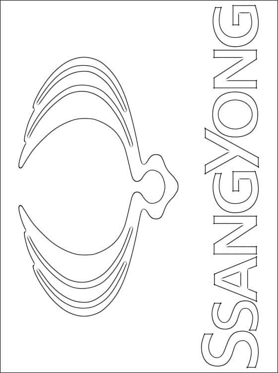 Kolorowanki: SsangYong - logo Kolorowanki Logo firm Transport