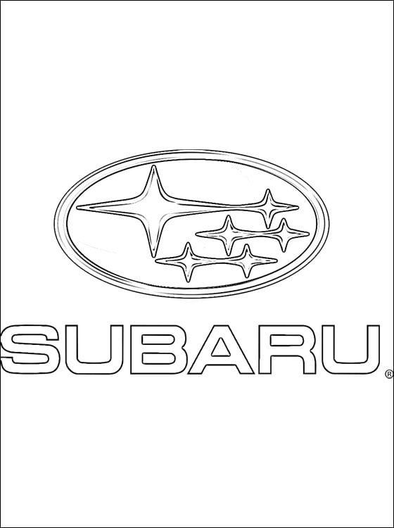 Kolorowanki: Subaru - logo Kolorowanki Logo firm Transport