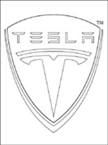 ... Tesla   Logo Coloring Pages Logos Transport