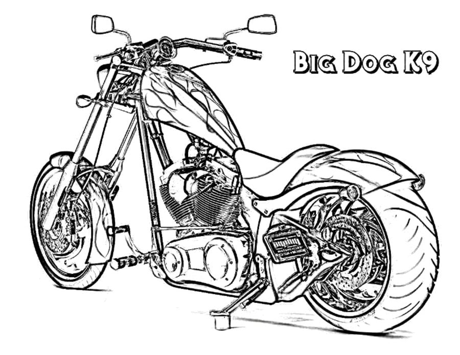 Chopper Kolorowanki Motocykle Transport