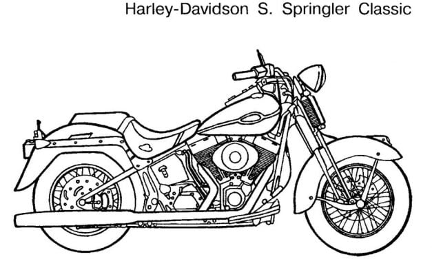 Coloring pages: Harley-Davidson