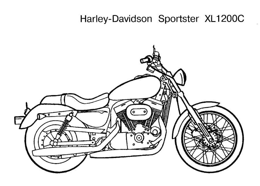 Harley-Davidson Kolorowanki Motocykle Transport