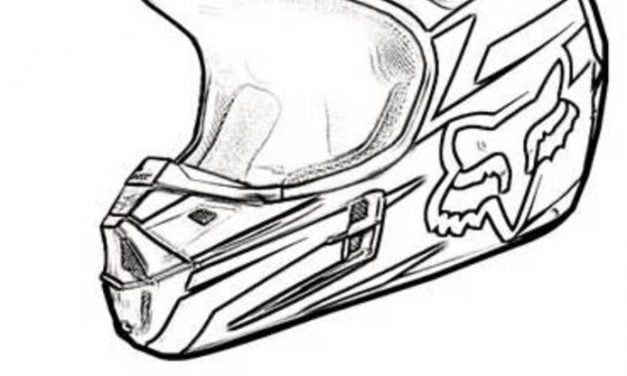 Coloring pages: Motorcycle Helmet
