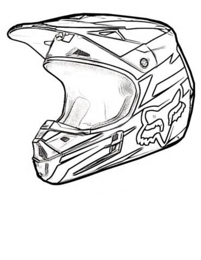 disegni da colorare  casco del motociclo stampabile  gratuito  per bambini e adulti