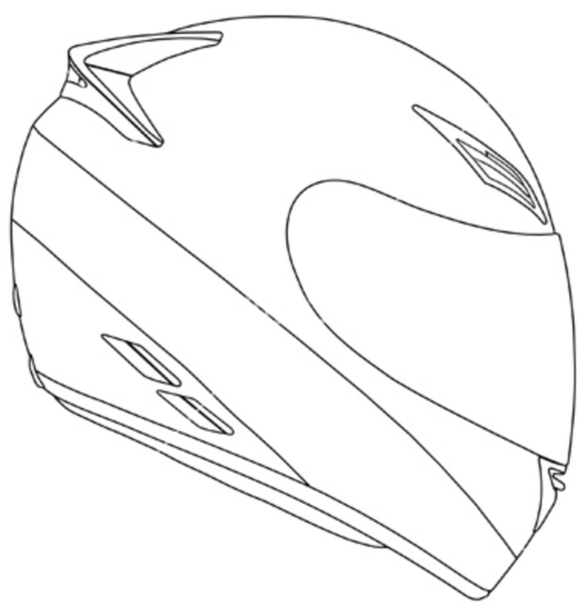 Dibujos para colorear casco de motocicleta imprimible for Motorcycle helmet coloring pages