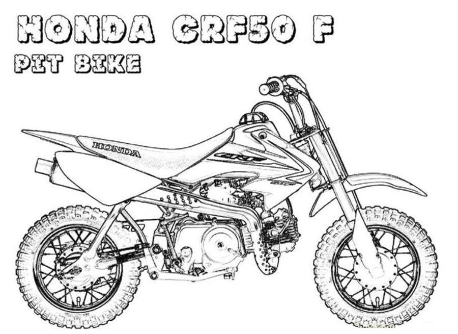 Honda Kolorowanki Motocykle Transport