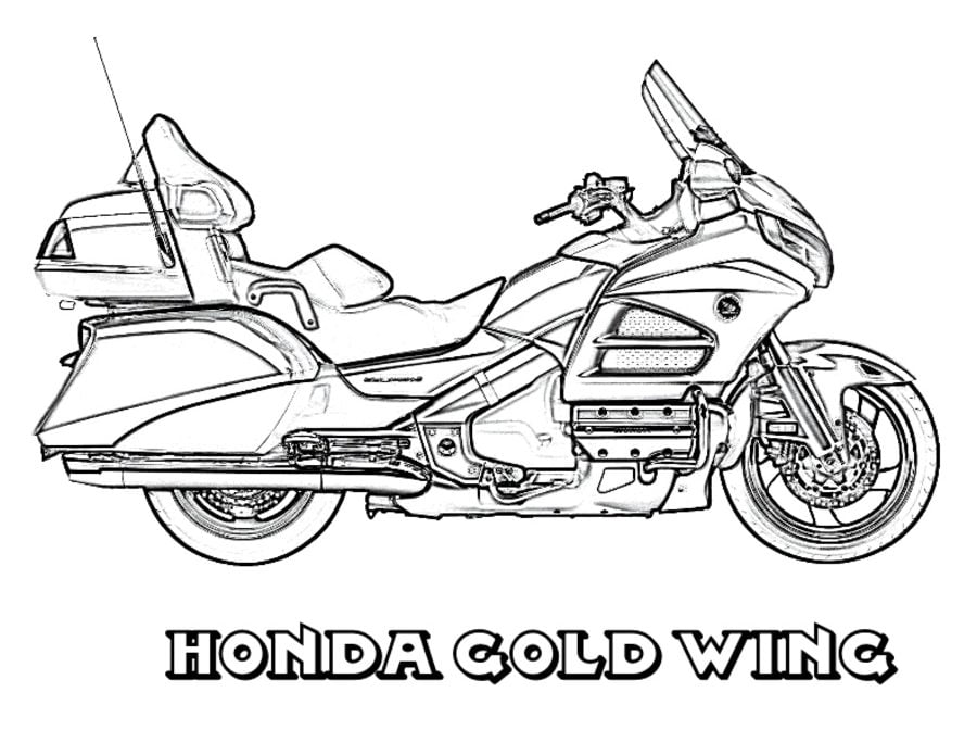 Honda Coloring Pages Motorcycles Transport
