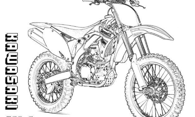 Coloring pages: Kawasaki