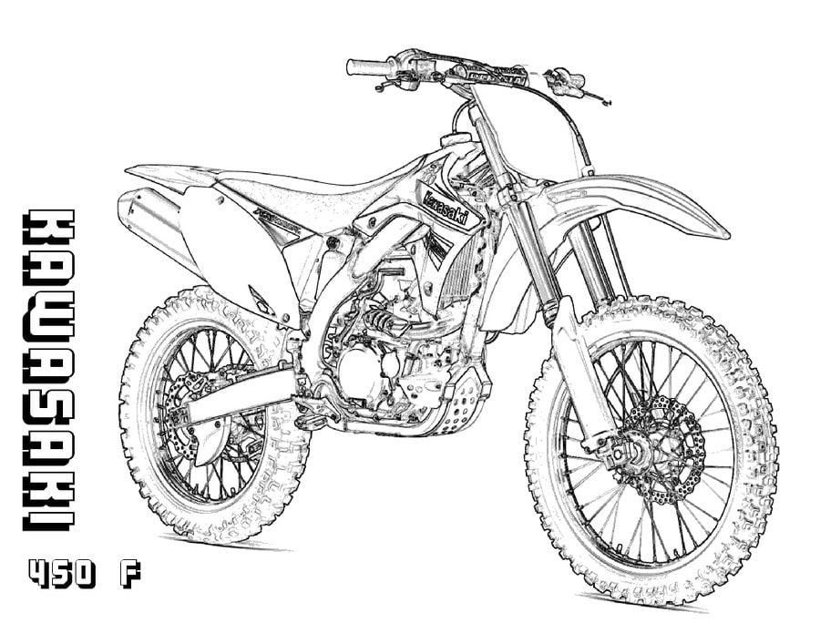 Kawasaki Kolorowanki Motocykle Transport