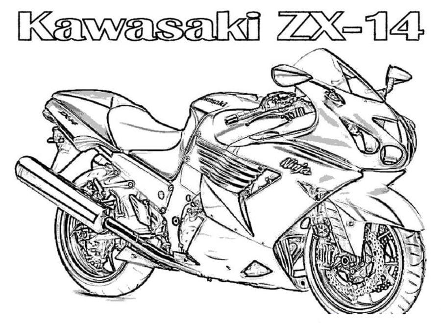 Ausmalbilder Kawasaki Zum Ausdrucken Kostenlos F 252 R