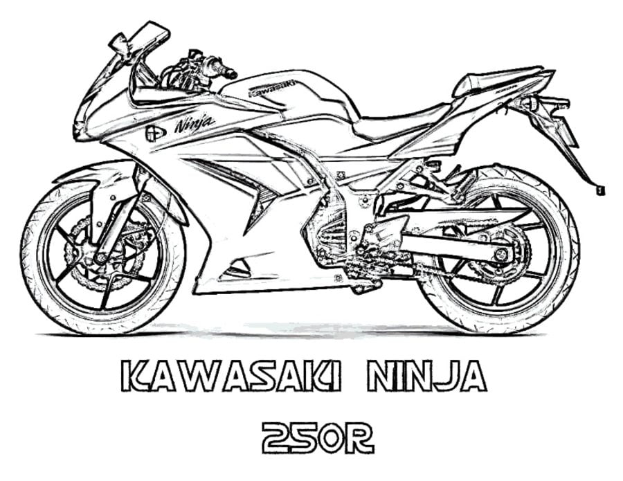 Coloring Pages Motorcycles Print