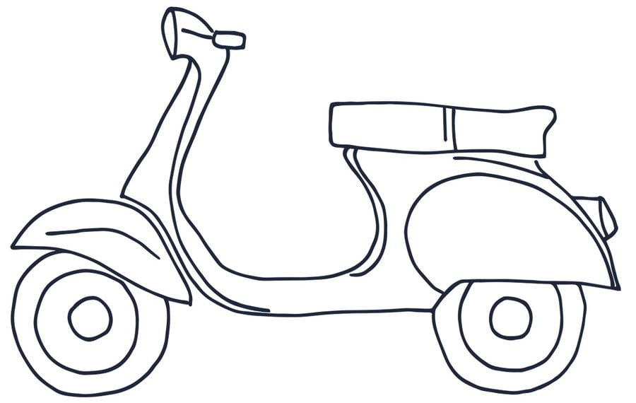 V Da Colorare: Disegni Da Colorare: Disegni Da Colorare: Scooter