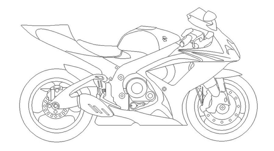 Suzuki Kolorowanki Motocykle Transport