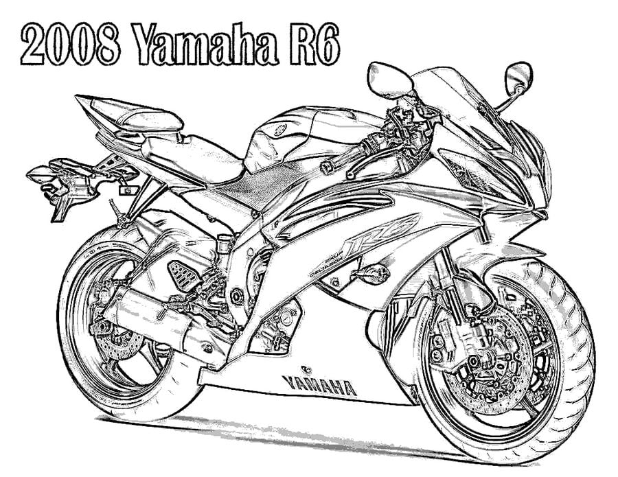Dibujos para colorear yamaha imprimible gratis para los ni os y los adultos - Dessins de moto a colorier et imprimer ...