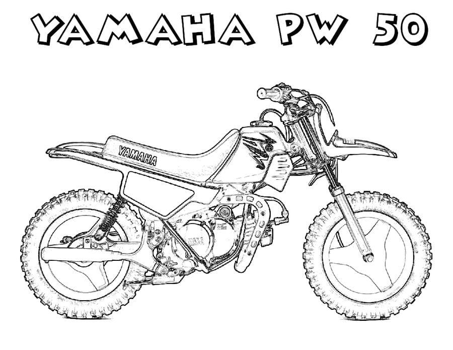 Yamaha Kolorowanki Motocykle Transport