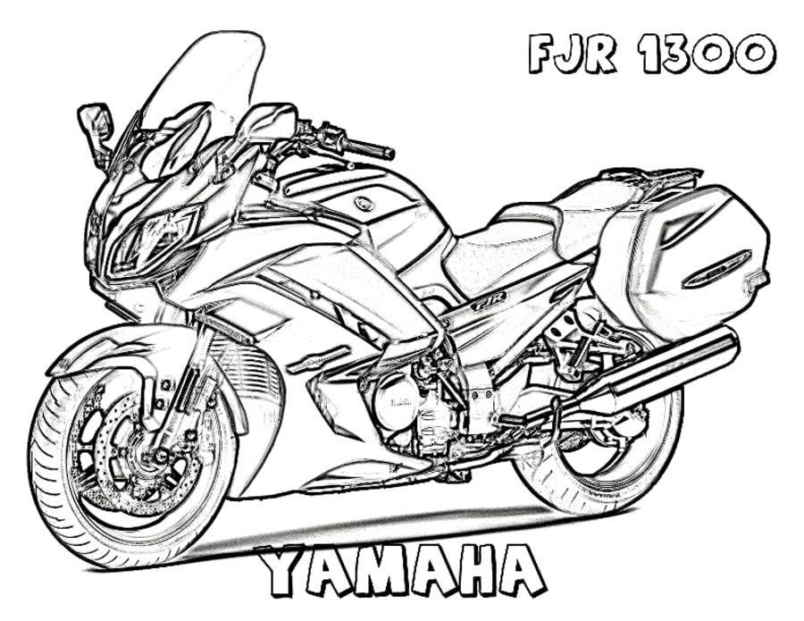 Kolorowanki kolorowanki yamaha do druku dla dzieci i doros ych - Dessin de moto cross a colorier et a imprimer ...