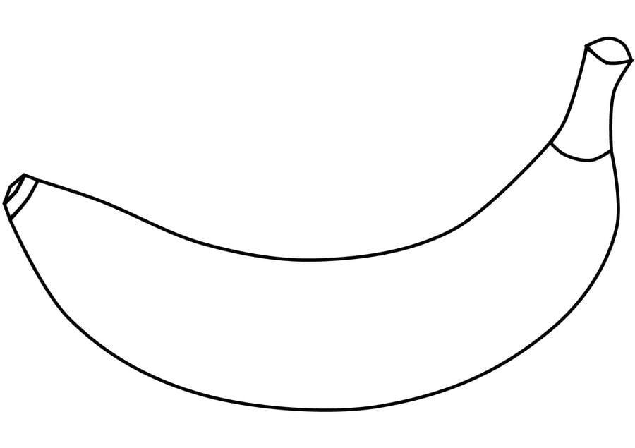 Dibujos para colorear: Plátano imprimible, gratis, para los niños y ...