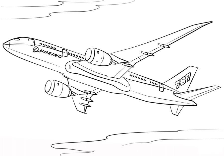 Boeing Kolorowanki Transport