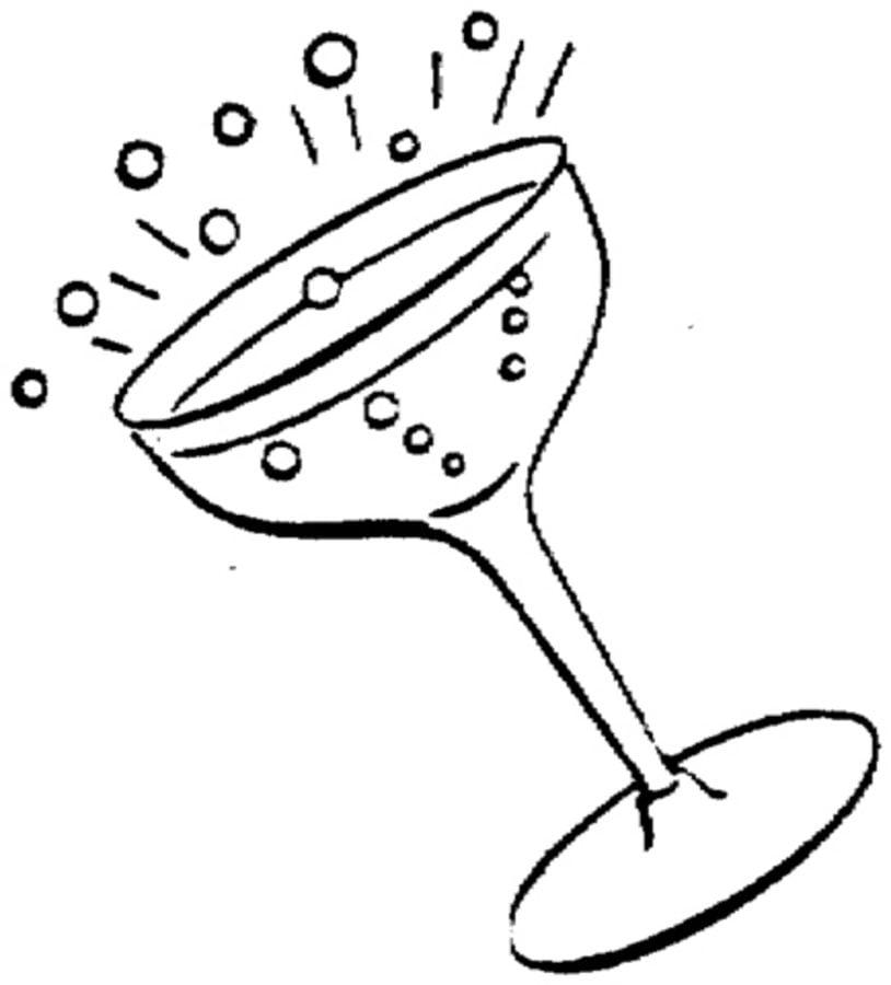 Kolorowanki szampan do druku dla dzieci i doros ych do - Verre coloriage ...