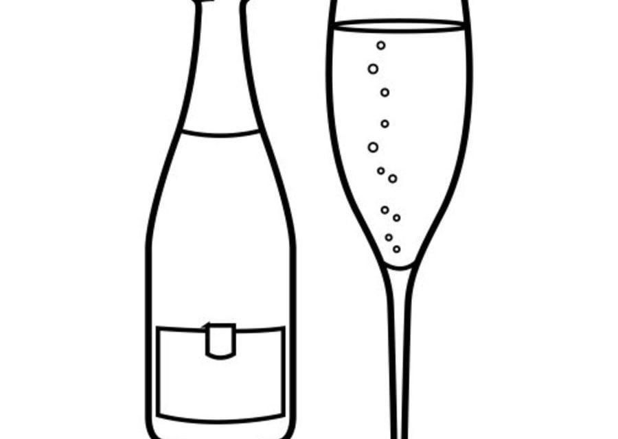 Ausmalbilder: Champagner