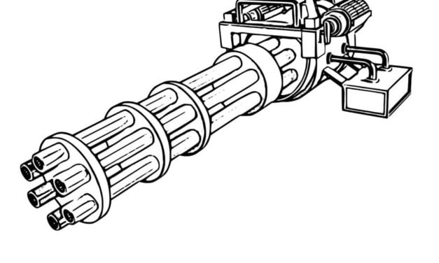 Coloring pages: Machine gun