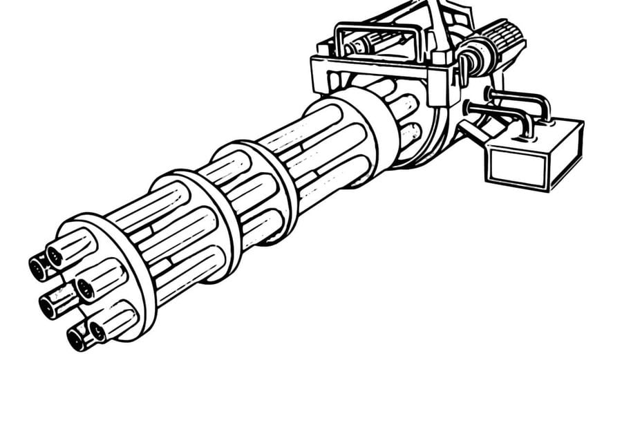 Coloring Pages Coloring Pages Machine Gun Printable For Kids Adults Free To Download