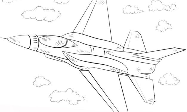 Coloring pages: Fighter aircraft