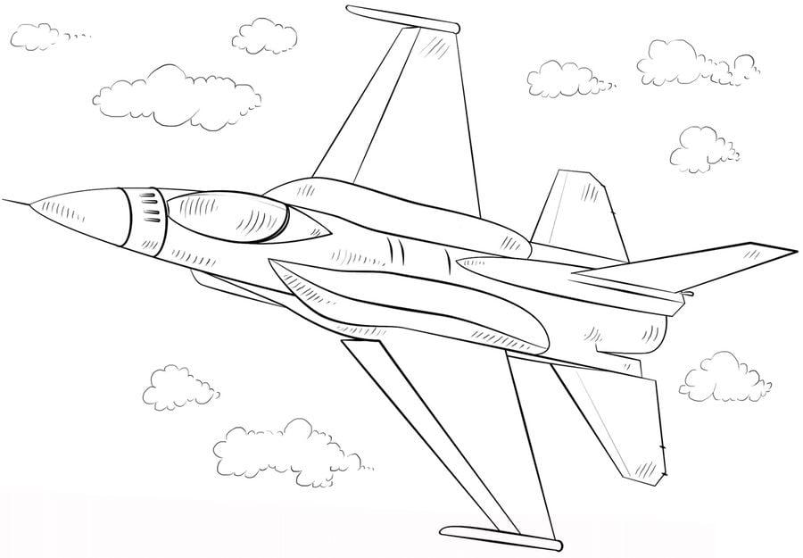 Aereo Da Caccia Disegno : Disegni da colorare aereo caccia stampabile gratuito