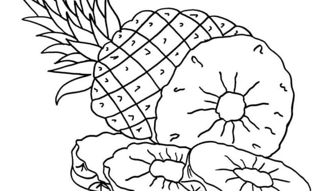 Coloring pages: Pineapple