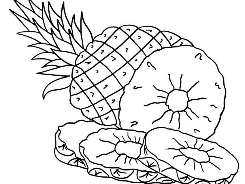 Kolorowanki Komiksy Do Druku Za Darmo Dla Dzieci I: Kolorowanki: Kolorowanki: Ananas Do Druku Dla Dzieci I