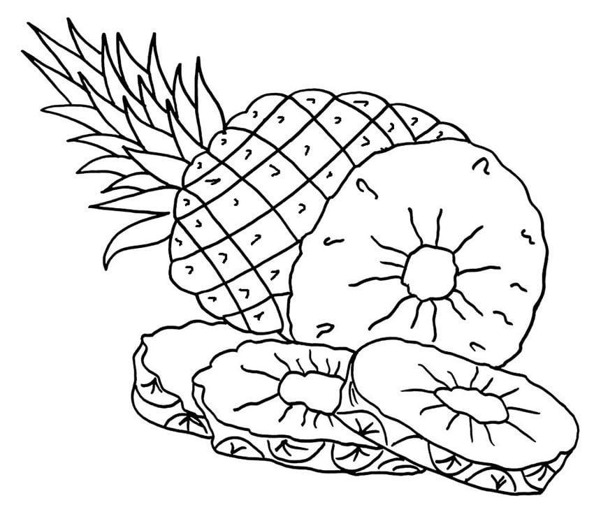 Disegni Da Colorare Disegni Da Colorare Ananas Stampabile