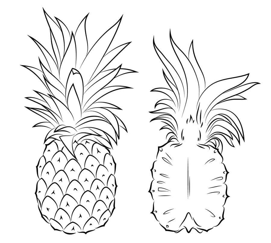 Ausmalbilder Ausmalbilder Ananas zum ausdrucken