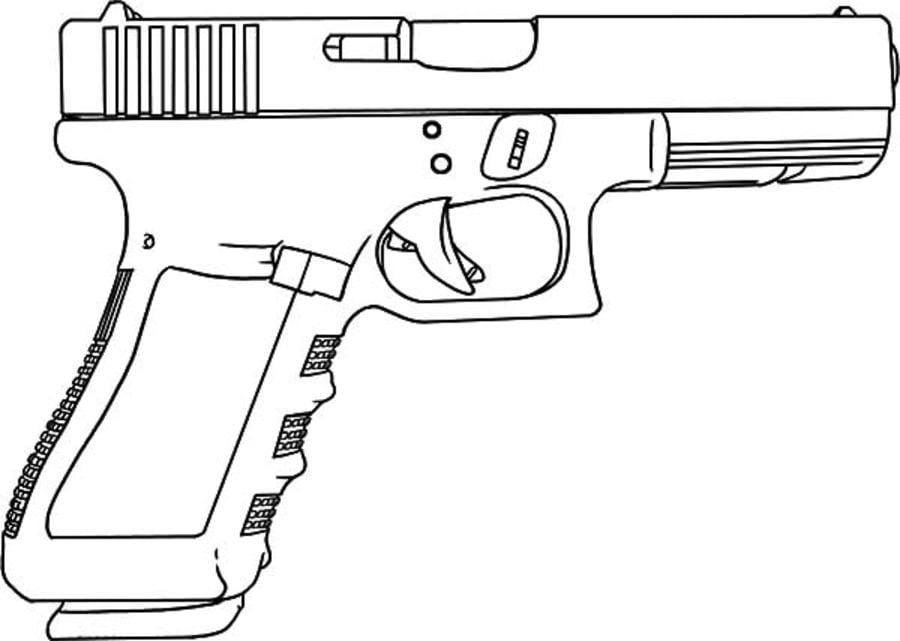 dibujos para colorear pistola imprimible gratis para los niños y