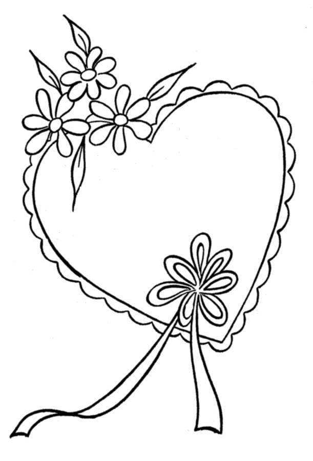 Dibujos para colorear: Rosa imprimible, gratis, para los niños y los ...