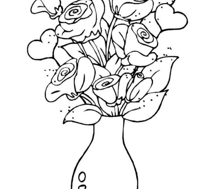 Ausmalbilder Ausmalbilder Rosen Zum Ausdrucken Kostenlos Für