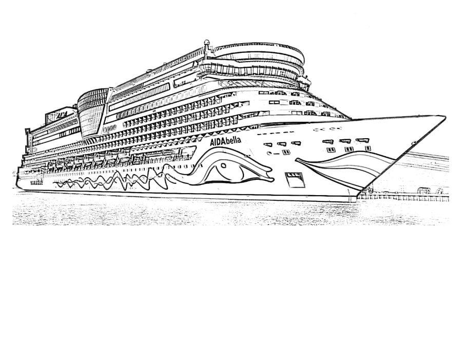Ausmalbilder: Schiff zum ausdrucken, kostenlos, für Kinder und