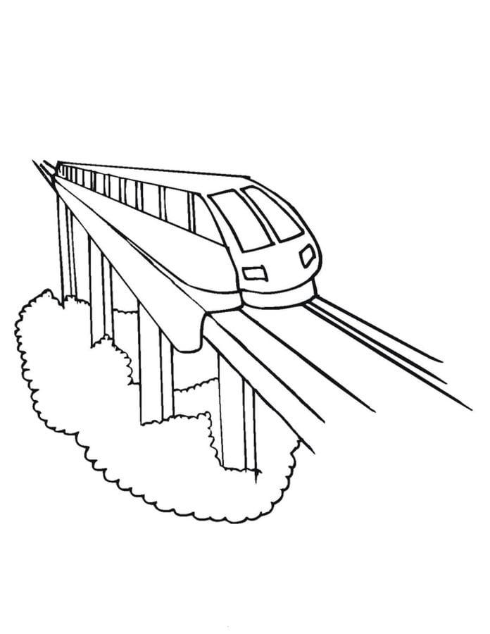 Pociąg Kolorowanki Transport