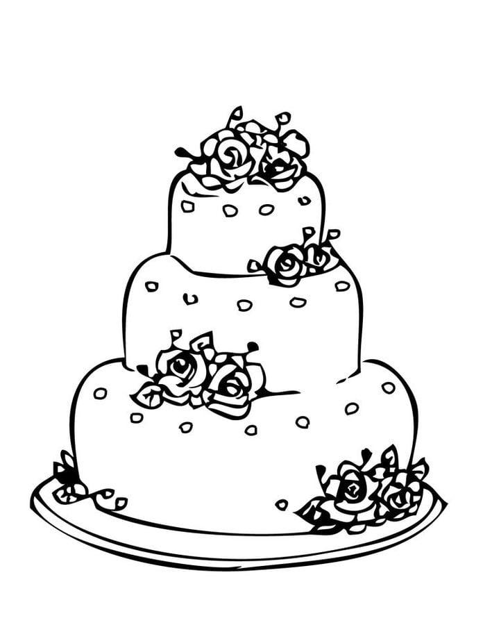 Ausmalbilder Ausmalbilder Hochzeitstorte Zum Ausdrucken Kostenlos